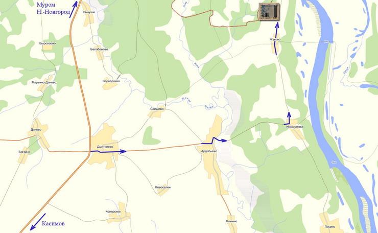 Схема проезда (кликнете по